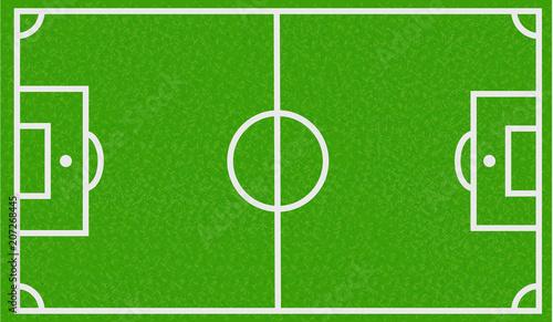 Obraz Campo de fútbol de hierva.  - fototapety do salonu