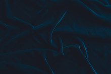 Luxurious Dark Blue Velvet Fab...