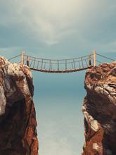 Old Bridge Over Between Two Bi...