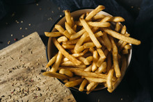 Appetizing French Fries In A B...