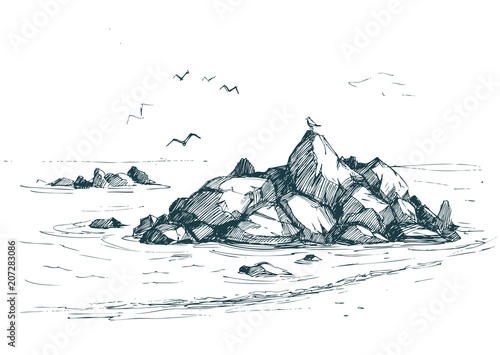 Cuadros en Lienzo Sea sketch