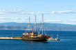 Travelling ship, Athos, Halkidiki, Greece