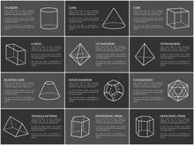 Geometric Shapes Text Sample Vector Illustration