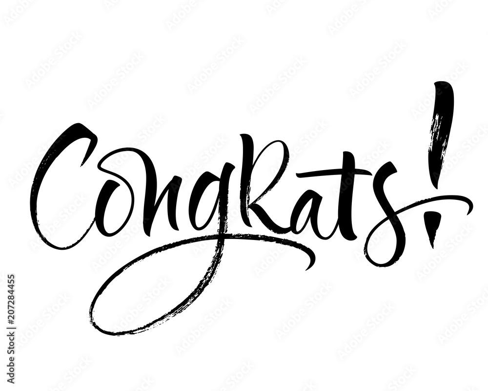 Valokuva  Congrats lettering