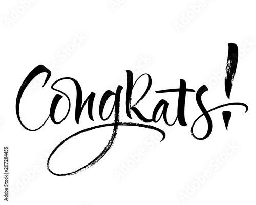 Fotografia  Congrats lettering