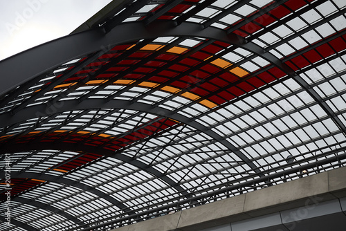 Photo  Amsterdam, Netherlands - May 16, 2018: Glass ceiling in Centraal station