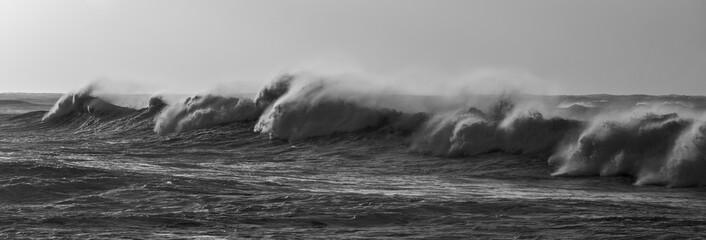 Panel Szklany Industrialny tempête sur la Bretagne