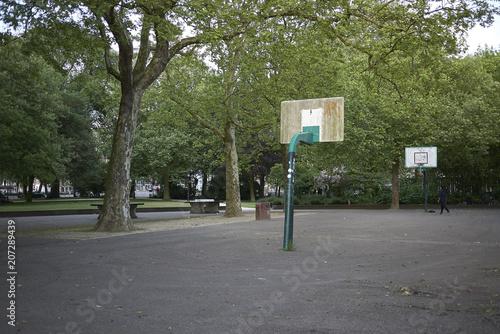 Photo  Amsterdam, Netherlands - May 16, 2018: Basketball playground in Amsterdam