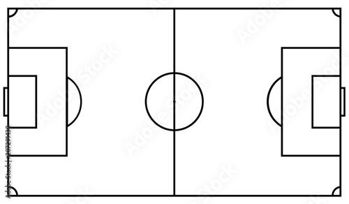 Fotografie, Obraz  Football field. Vector illustration eps 10