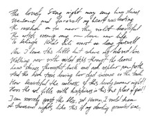 Handwritten Letter Handwriting...