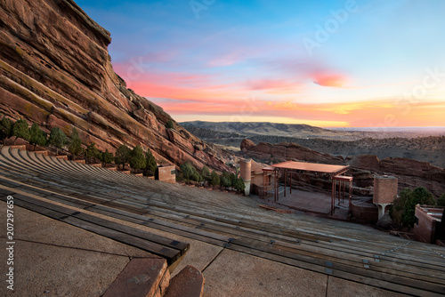 Slika na platnu Red Rocks Park at sunrise, near Denver Colorado