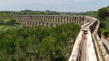 Aqueduct Of Tomar Near The Templar Castle. Tomar, Portugal