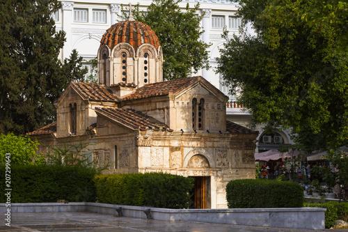 Spoed Foto op Canvas Mediterraans Europa Agios Eleftherios Church.