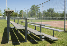 Bleachers Are Shown At A Baseb...