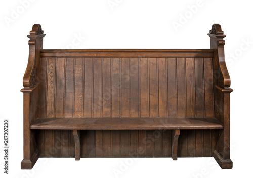 Church pew bench seat Fototapet
