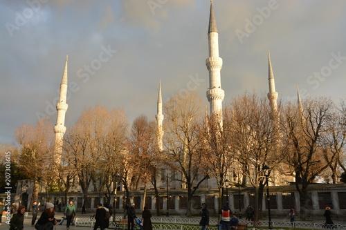 Photo  トルコイスタンブールのスルタンアフメットジャーミイ