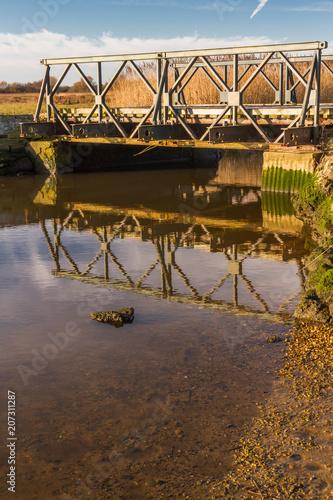 Photo  Prototype Bailey Bridge on Stanpit March.
