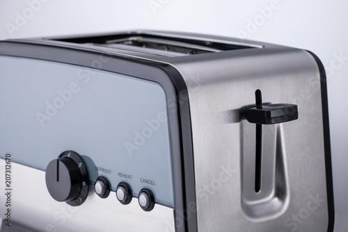 kitchen toaster on a light background, close-up. kitchen accessories