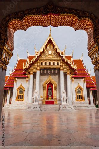 Spoed Foto op Canvas Bedehuis Marble temple one of popular temple in Thailand