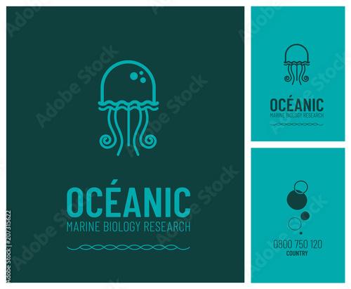 Fotografie, Obraz  logo pour de la recherche en biologie marine