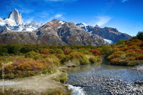 Foto op Aluminium Oceanië Landscape near Fitz Roy in Patagonia (Argentina)