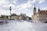 Fototapeta Miasto - Widok na rynek starego miasta w Warszawie