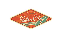 American Retro Billboard Style For Restaurant Logo Design Inspiration