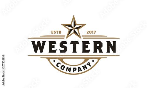 Vintage Country Emblem Typography for Beer / Restaurant Logo design ...