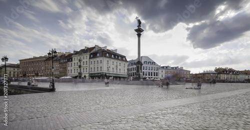 Plakat Widok na rynek starego miasta w Warszawie