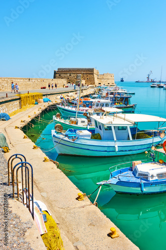 Fishing boats in old port of Heraklion