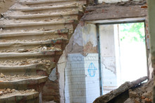 Destroyed Stairs And Light Entrance