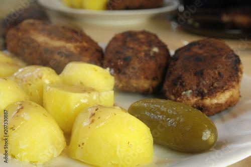 Fototapeta Obiad z kotletu mielonego obraz