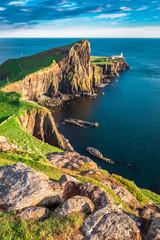 Stunning dusk at the Neist point lighthouse, Scotland