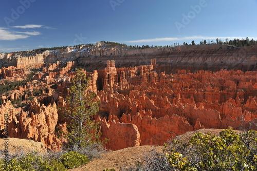 Tuinposter Canyon USA. Bryce Canyon on a sunny spring day