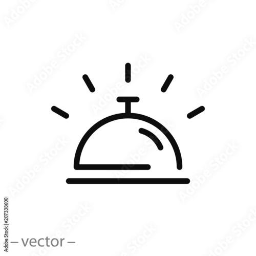 Fotografie, Obraz hotel bell sign, line icon - vector illustration eps10