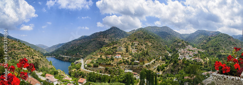 Spoed Foto op Canvas Cyprus View of the landscape of the island of Cyprus