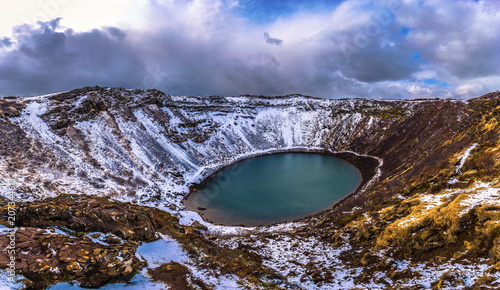 Kerid Crater- May 04, 2018: The Kerid Crater in the Golden Circle of Iceland