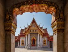 The Marble Temple, Wat Benchamabophit Dusit Wanaram. Bangkok, Thailandia