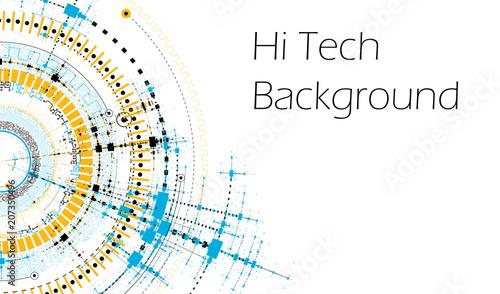 Fotografía  Vector HiTech Background - Technology Diagram Concept - Vector Graphic Template