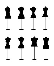 Silhouette Of Fashion Dress Fo...
