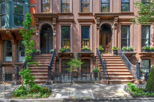 Canvas Print Brownstone - Brooklyn Heights, Brooklyn