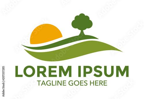 Foto landscape logo vector design
