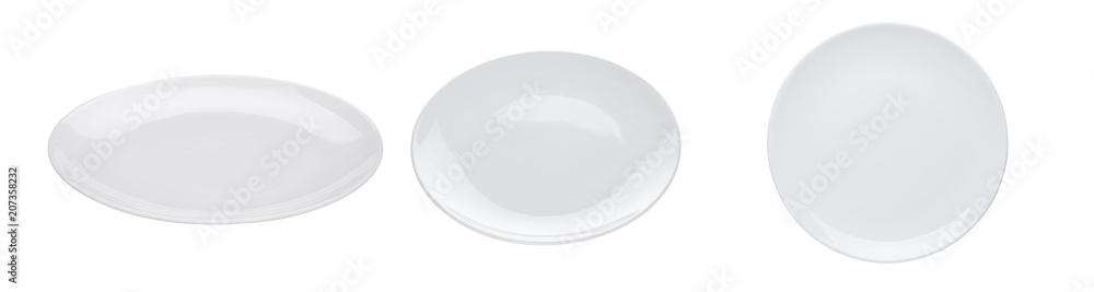 Fototapety, obrazy: White plate isolated