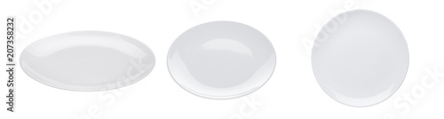 Tela White plate isolated