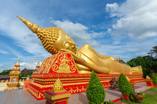 Reclining Buddha Statue At Wat...