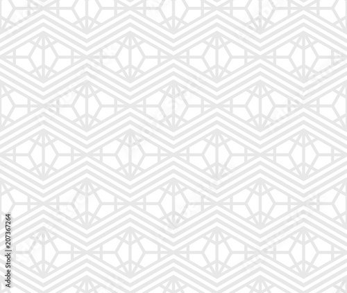 Foto op Plexiglas Abstract wave Abstract geometric pattern with stripes, lines. Seamless vector background. White and grey ornament. Simple lattice graphic design.