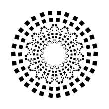 Circular Paving Tile Pattern  Square Circle
