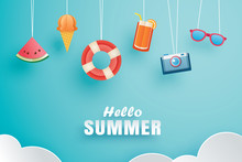 Hello Summer With Decoration O...