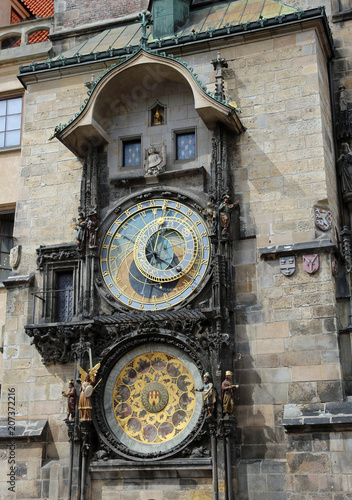 Staande foto Praag Prague Ancient astronomical clock one of the major monuments of