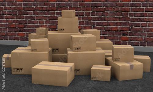 Valokuva  boites carton paquets colis transport